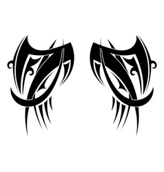 Graphic Tribal tattoo wings vector image