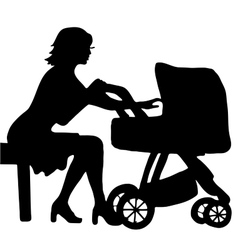 High quality of mother with baby in vector image