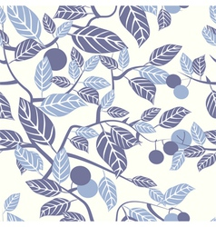 seamless texture with beautiful leaves ornament vector image