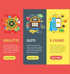 casino banner vecrtical set gambling game vector image
