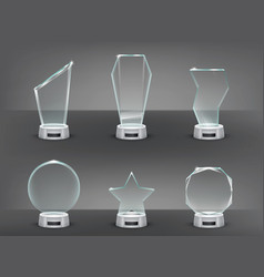 collection of modern glass vector image vector image