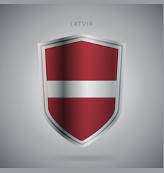 Europe flags series latvia modern icon vector