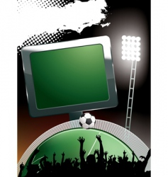 football stadium banner vector image