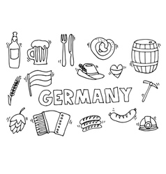 Germany travel set vector image vector image
