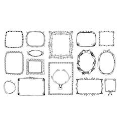Hand-drawn doodle frames vector image