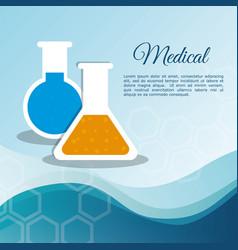 medical laboratory test tube vector image
