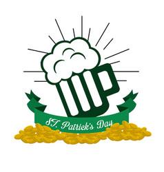 patricks day icon image vector image