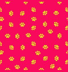 paw print seamless pattern vector image