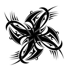 Round tattoo element vector