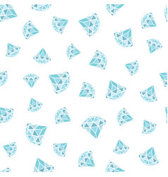 seamless pattern of geometric blue diamonds on vector image vector image