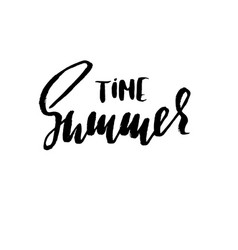 summer hand drawn lettering vector image