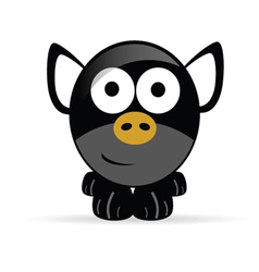 sweet and cute pig vector image