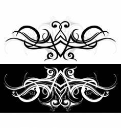 tribal tattoo design vector image vector image
