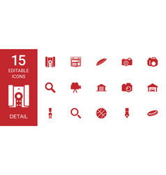 15 detail icons vector image