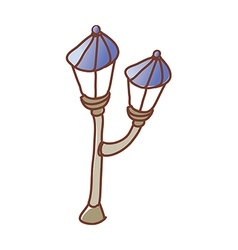 A street light on the street vector image