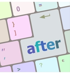 after word on computer pc keyboard key vector image