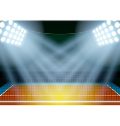 Background for posters night volleyball stadium in vector image