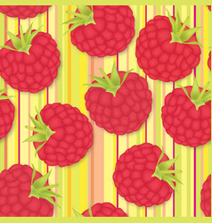 Berry pattern raspberry seamless background food vector