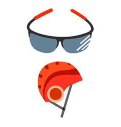Bicycle helmet protective wear vector