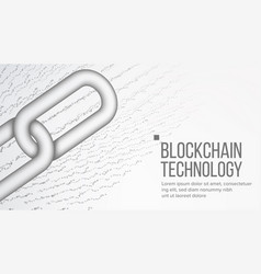 blockchain cooperation business concept vector image