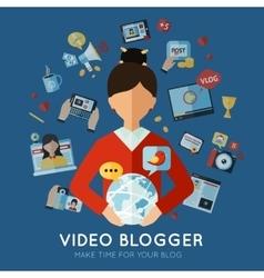 Blogger Flat vector image