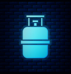 Blue propane gas tank icon isolated seamless vector
