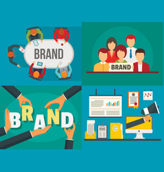 brand identity banner set flat style vector image