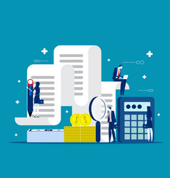business and accounting concept finance vector image