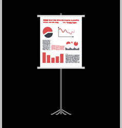business presentation on roll-up template charts vector image