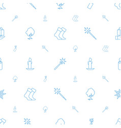 christmas icons pattern seamless white background vector image