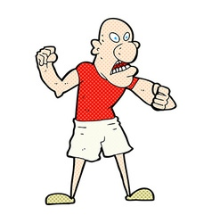 Comic cartoon violent man vector