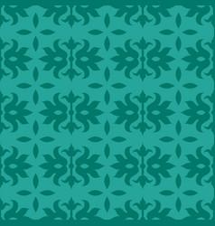 Dark green seamless pattern swan over jade vector