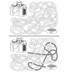 Dog maze vector image