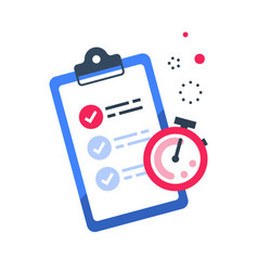 Fast services check list and stopwatch vector
