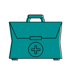 First aid kit healthcare related icon image vector