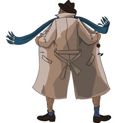 Flasher unbuttoned coat vector