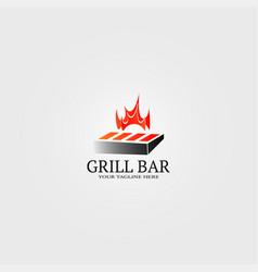 Grill bar logo template logo for restaurant vector