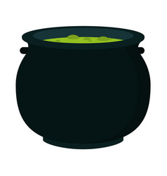 Halloween soup pot vector