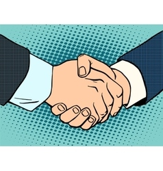 Handshake business deal contract vector