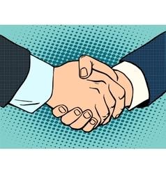 Handshake business deal contract vector image