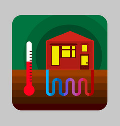 Home thermal energy concept background cartoon vector