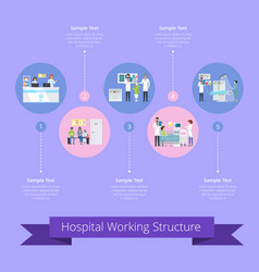 Hospital working structure vector