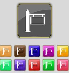 Information Road Sign icon sign Set with eleven vector