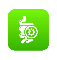 Intestine virus icon green vector