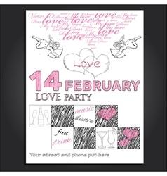invitation for Valentine day vector image