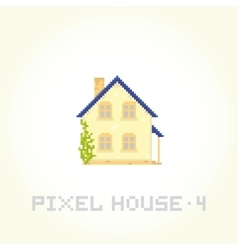 Isolated house in pixel art style 4 vector image