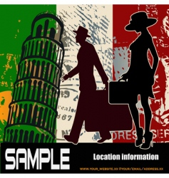 Italian travel background vector image