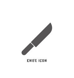 knife icon simple flat style vector image