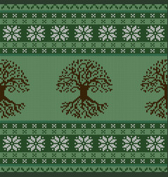 Knitted woolen seamless ornament with the celtic vector