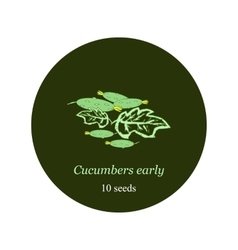 Label for seeds and seedlings of cucumber vector